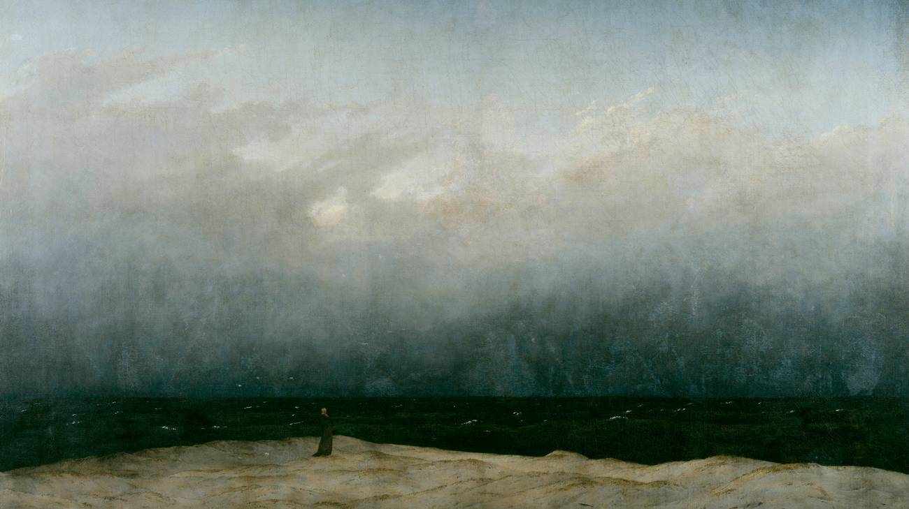 Caspar David Friedrich, Monaco in riva al mare, 1808