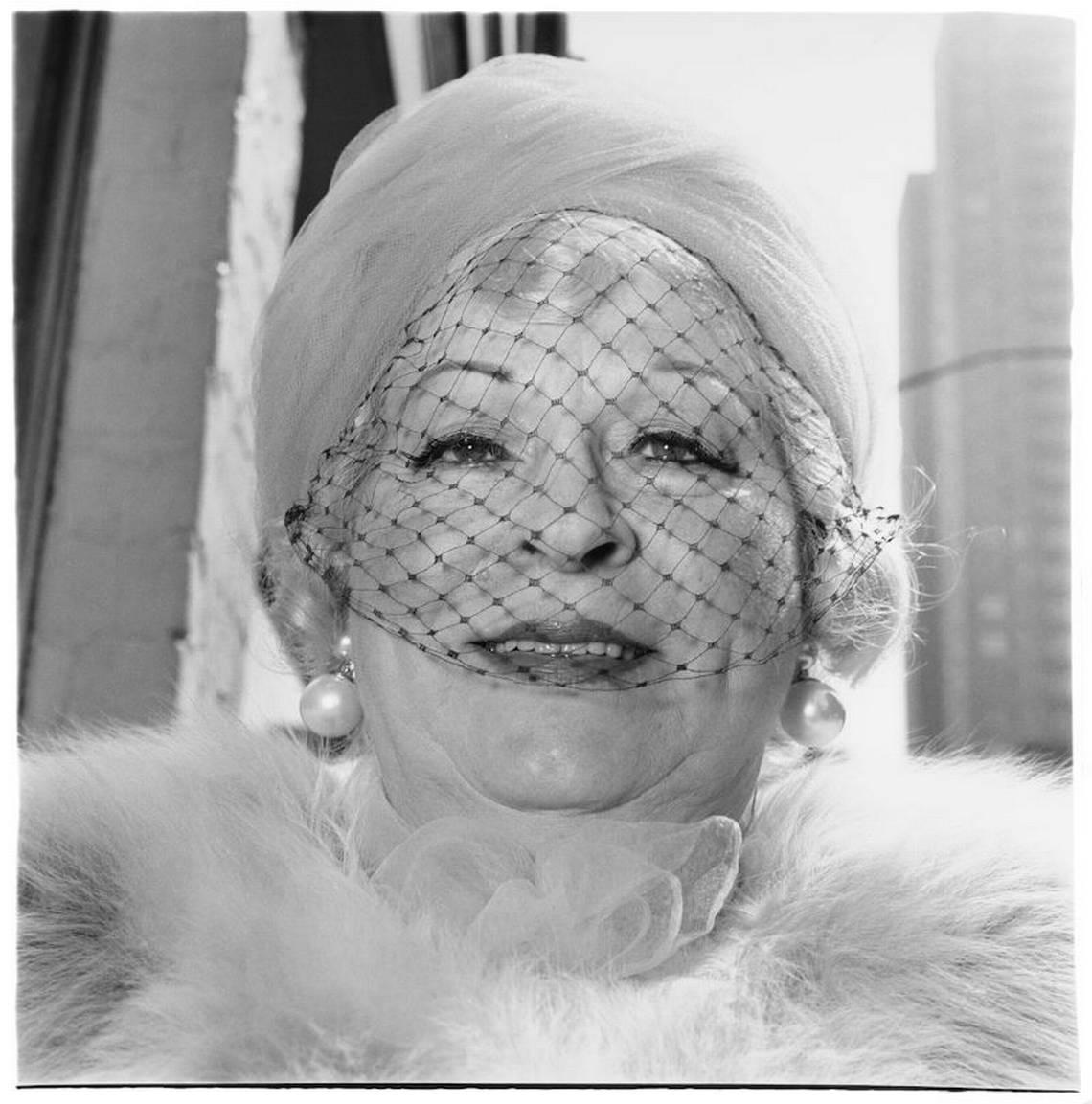 Diane Arbus, Woman with a veil on Fifth Avenue, N.Y.C. 1968