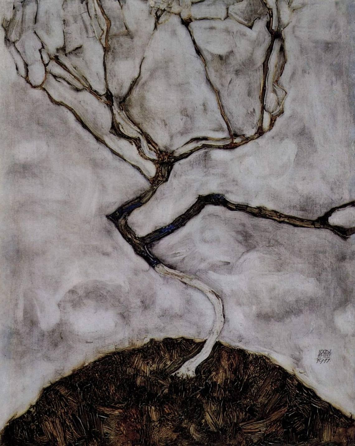 Egon Schiele, Small Tree in Late Autumn, 1911