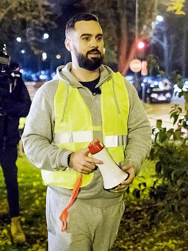 Eric Drouet il 17 novembre a Parigi