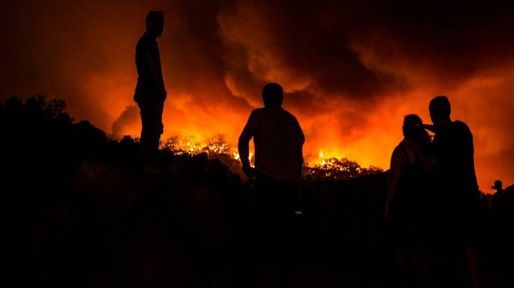 Il sud del Portogallo è in fiamme
