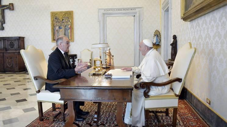 Guy Parmelin a colloquio con Papa Francesco