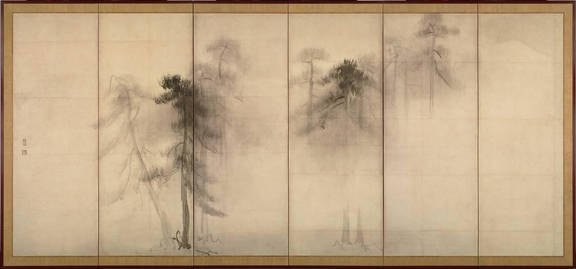 Hasegawa Tohaku,PineTrees, XVI sec
