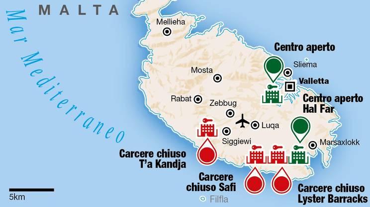 I centri chiusi e quelli aperti sull'isola