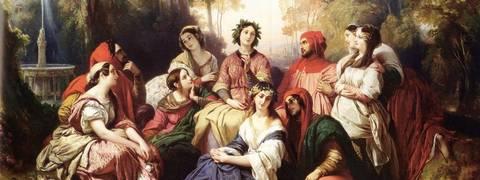 I giovani novellatori del Decameron in un dipinto di Franz Xaver Winterhalter