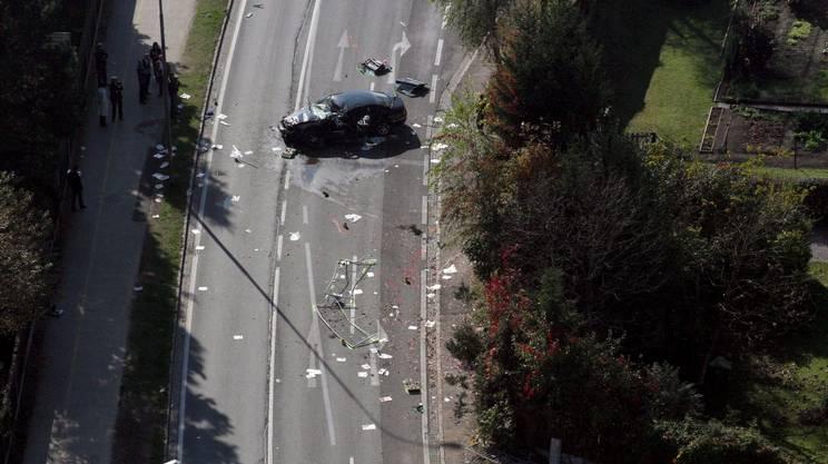 Il luogo dell'incidente vicino Klagenfurt