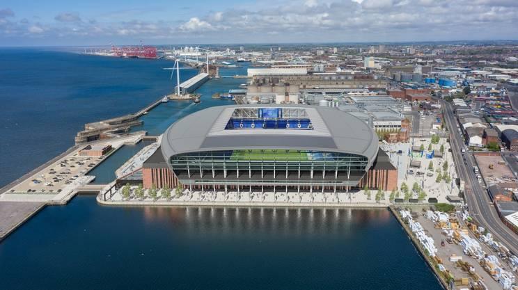 Il nuovo stadio dell'Everton sul mare di Liverpool