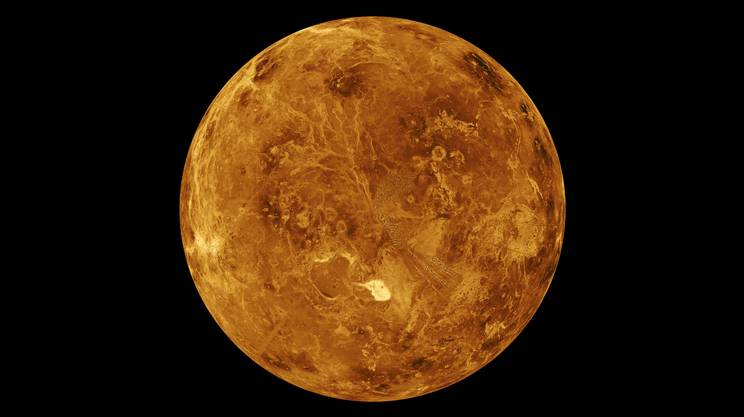 Il polo Nord di Venere fotografato dalla sonda Magellano tra il 1990 e il 1994