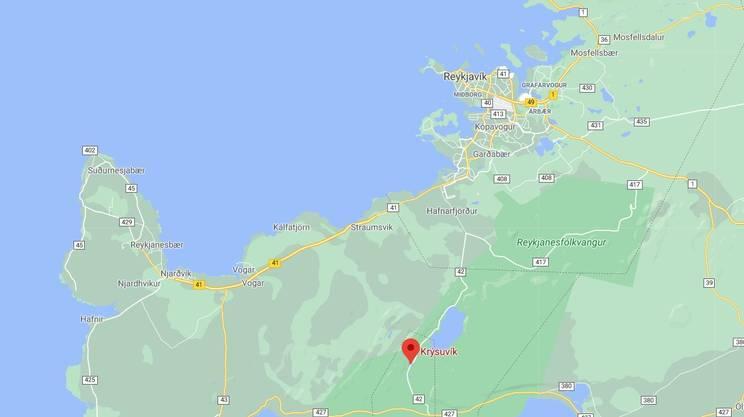 Il vulcano attivo Krysuvik è a 40 km dalla capitale