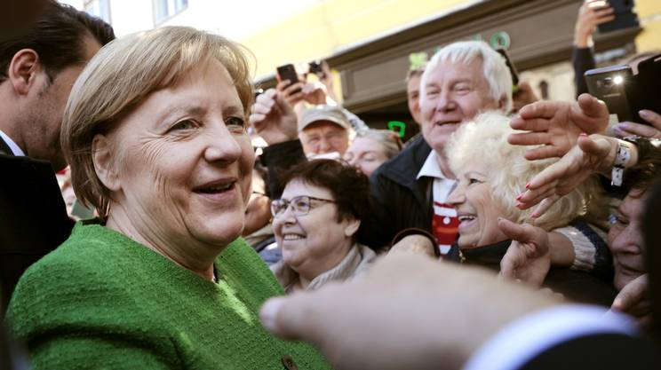 La cancelliera tedesca Angela Merkel giovedì a Sibiu
