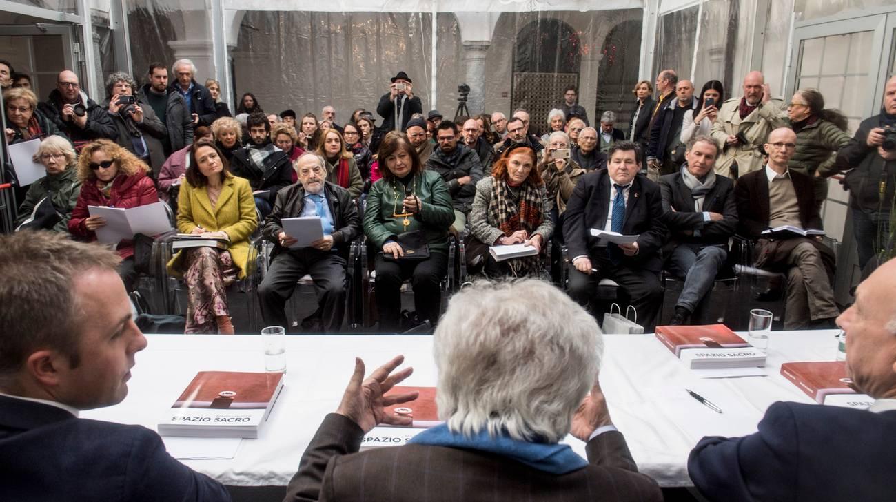 La presentazione, giovedì, nel cortile della pinacoteca