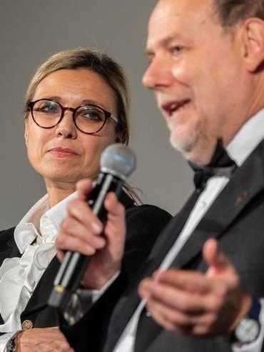 La presidente Flavia Marone e il direttore artistico Giancarlo Zappoli in una foto d'archivio