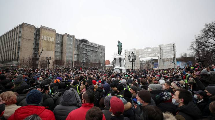 La protesta a Mosca