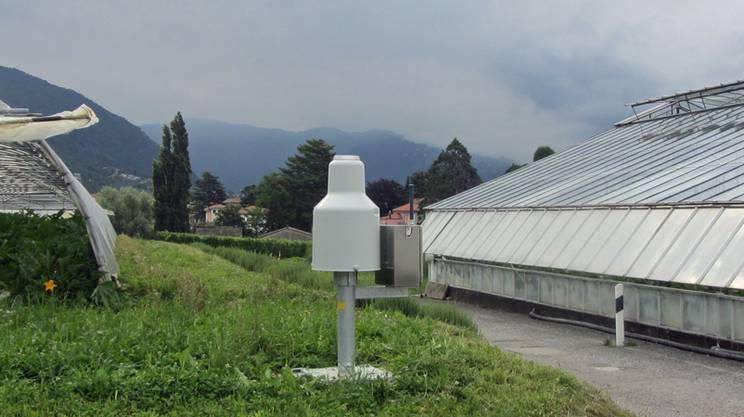 La stazione di misura meteorologica di Coldrerio fa parte della rete di rilevamento automatica nazionale