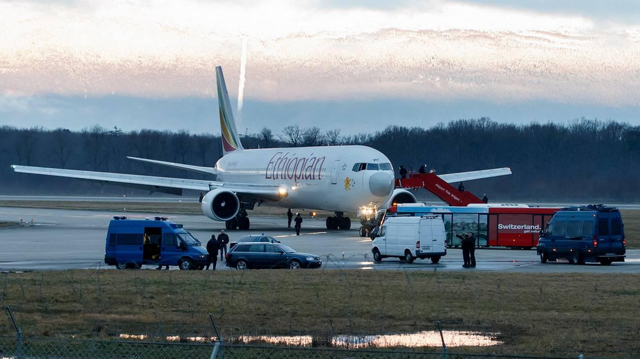 L'aereo dell'Ethiopian Airlines dirottato il 17 febbraio 2014 su Ginevra