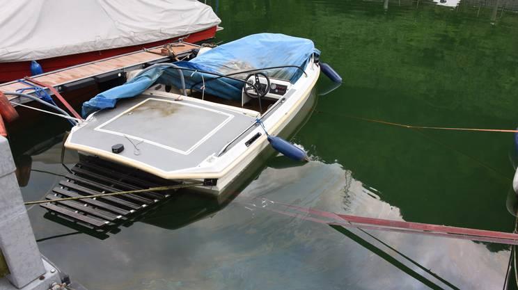 L'imbarcazione affondata nel pomeriggio a Morcote