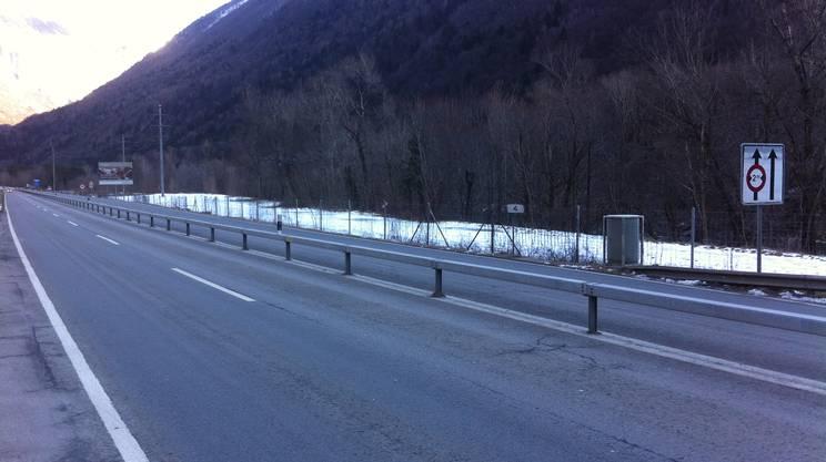 L'installazione è stata tolta perché entro breve inizieranno i lavori di allargamento dell'A13