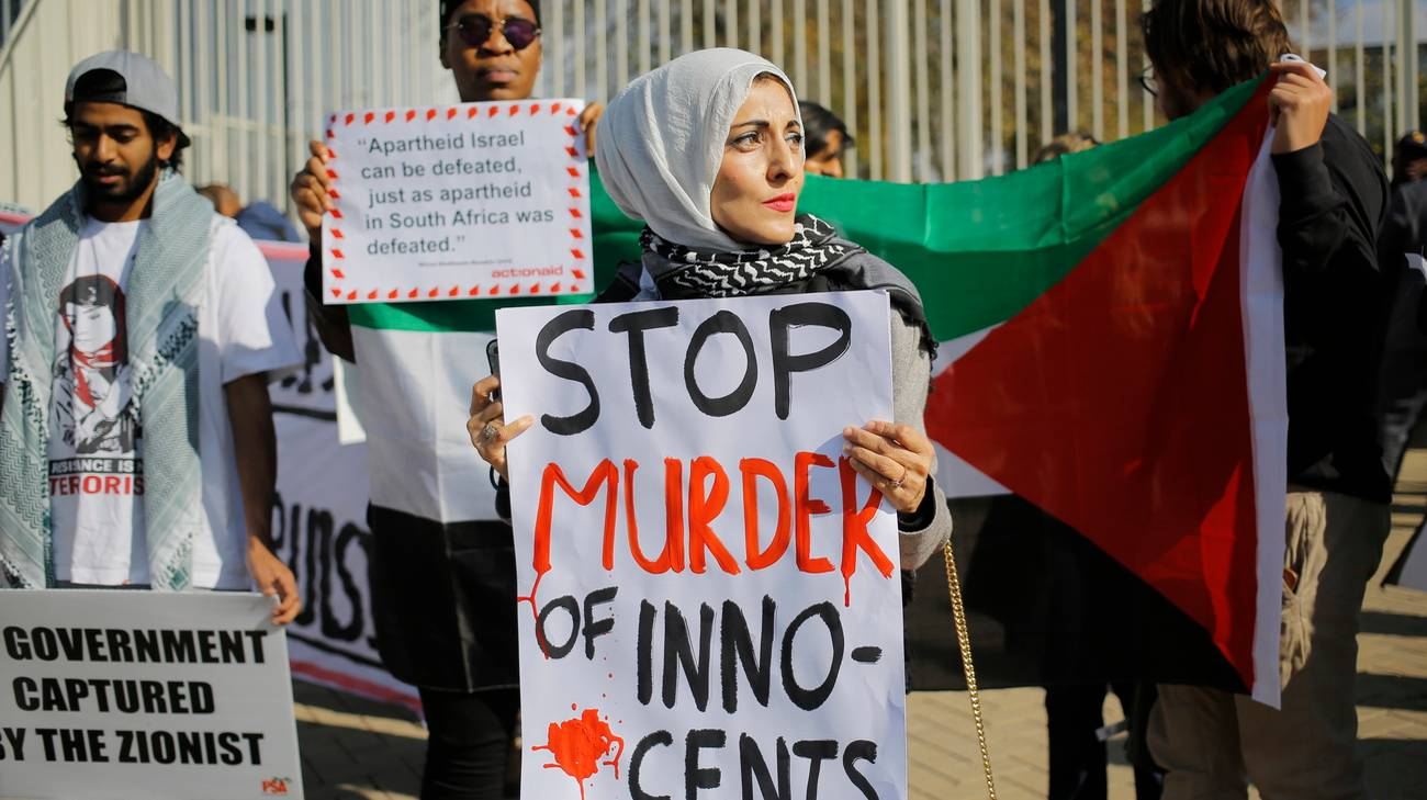 Manifestazione filopalestinese a Johannesburg, Sudafrica
