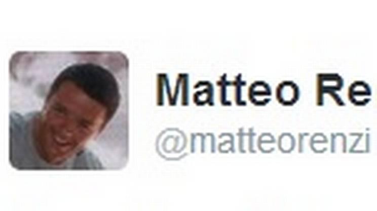 Matteo Renzi su Twitter