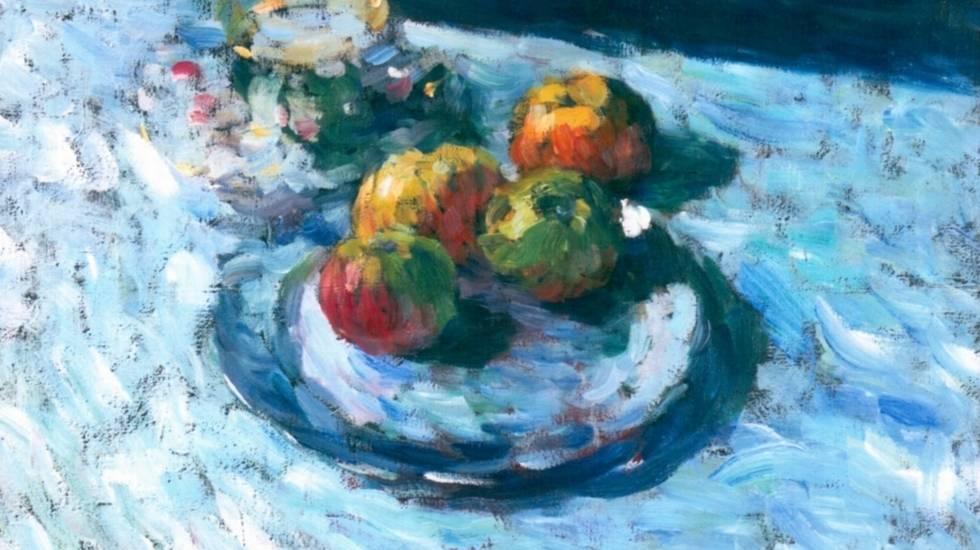 ''Natura morta con tazza antica e piatto con mele'' di Alexej Von Jawlenski