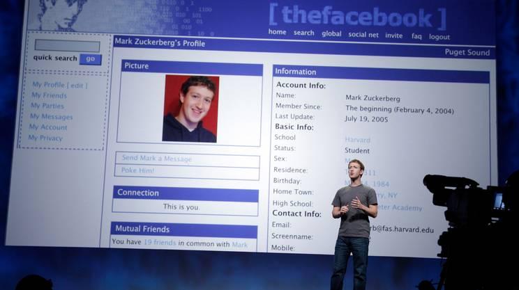 Nel 2011 a San Francisco. Sullo schermo: il layout del sito come appariva nel 2005