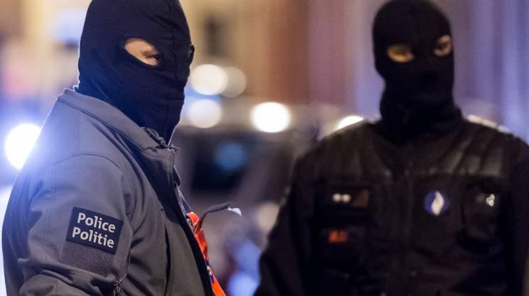 Polizia belga in azione