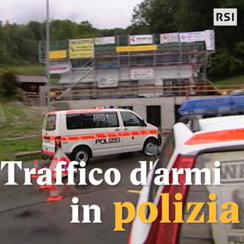 Traffico d'armi in polizia