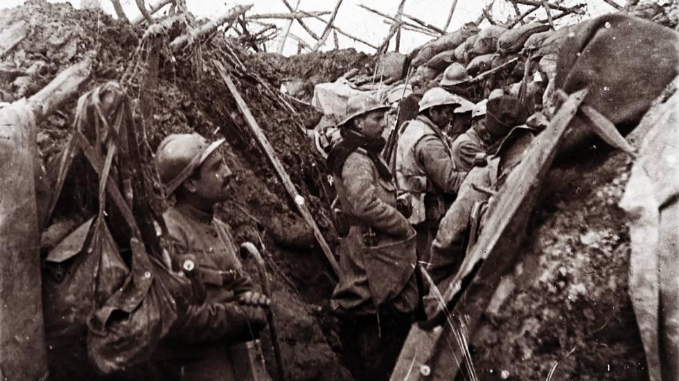 Soldati francesi nelle trincee