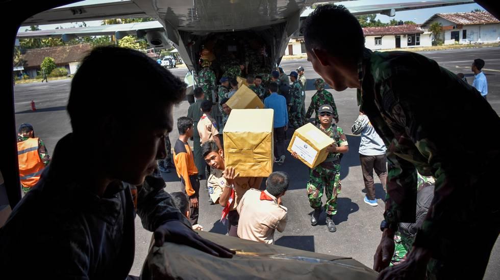 Il terromoto nel distretto di Lombok in Indonesia