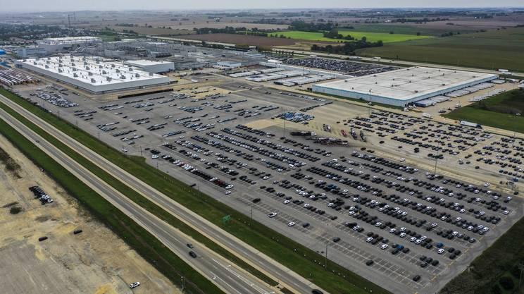 Stabilimento della Fiat Chrysler a Belvidere, negli USA