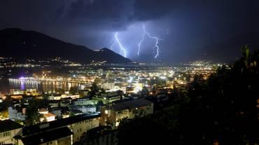 Record di fulmini in Ticino