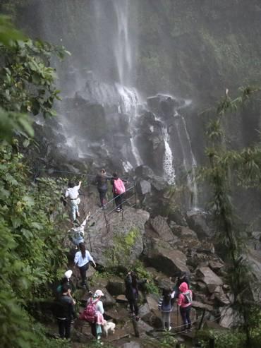Una delle cascate dei parami