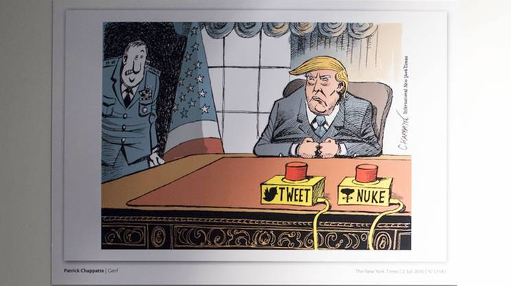 Vignetta di Chappatte pubblicata sul New York Times nel 2016