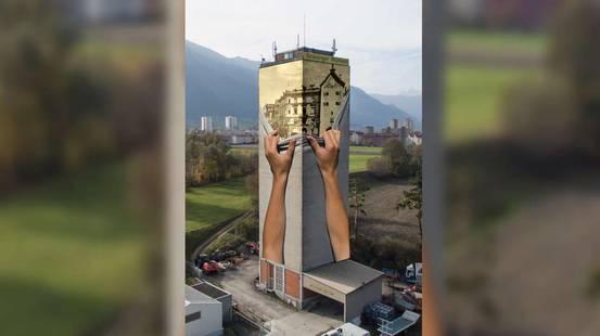 Un murale da record a Coira