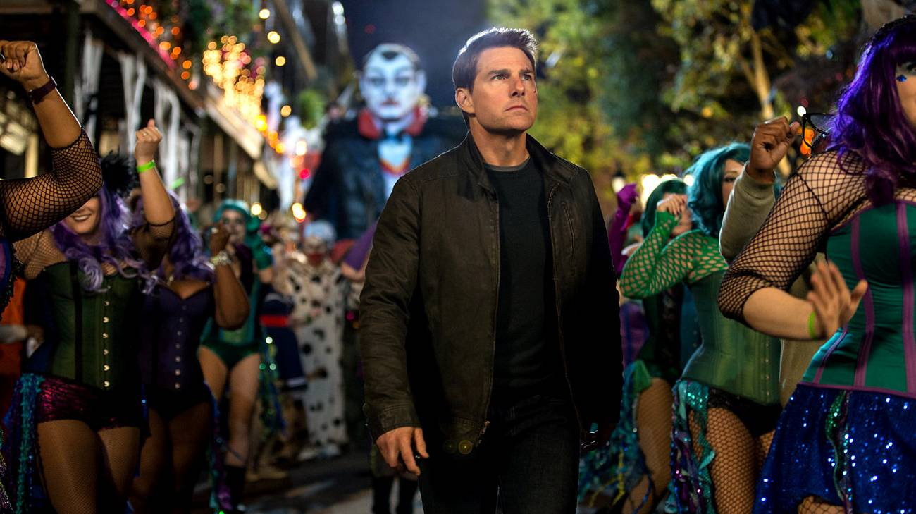 Tom Cruise in una scena del film (© 2016 Universal Pictures)