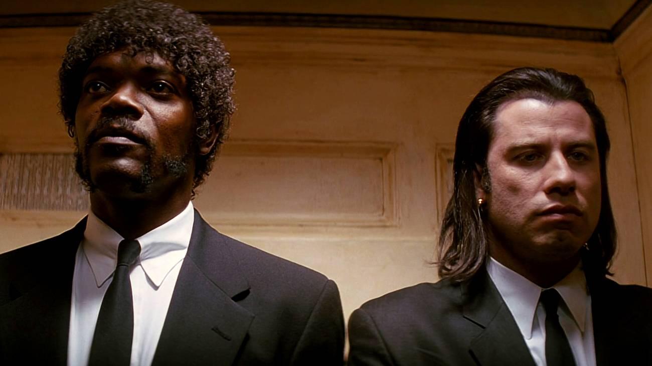 Samuel L. Jackson e John Travolta in una scena del film (© 1994 Miramax Films)