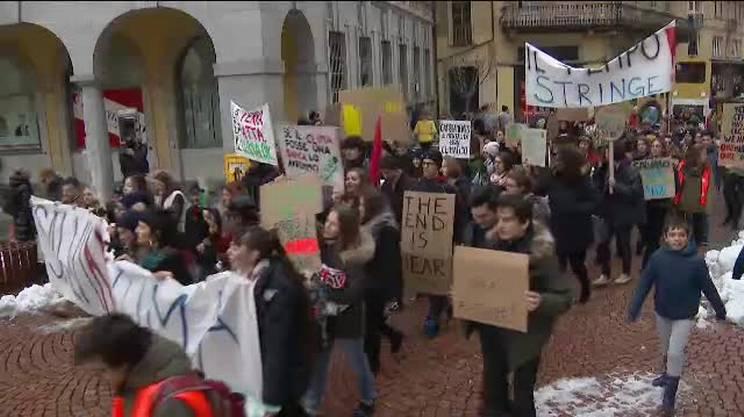 A Bellinzona in marcia per il clima