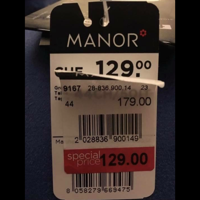 L'etichetta saldata va virale, Manor chiede scusa