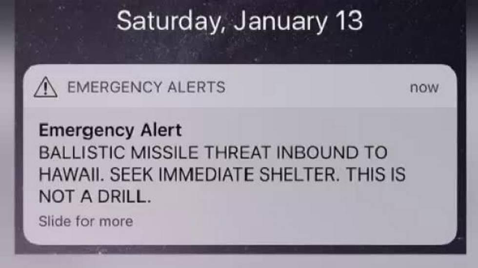 Falso allarme missile alle Hawaii