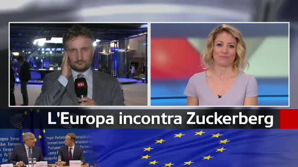 Facebook, Marc Zuckerberg al Parlamento europeo