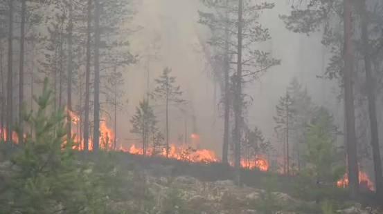 Inferno di fuoco in Svezia