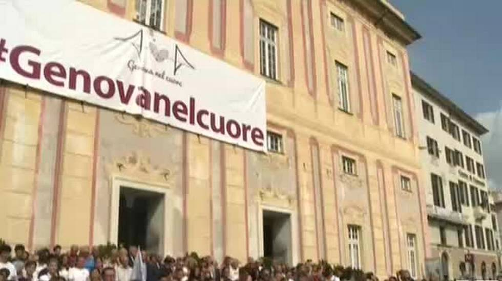 Ponte Morandi, Genova commemora le vittime