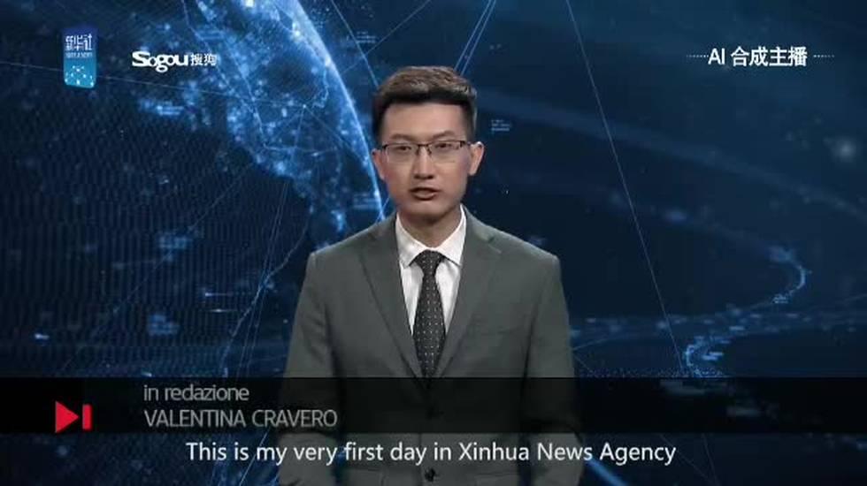 Cina, il primo presentatore virtuale