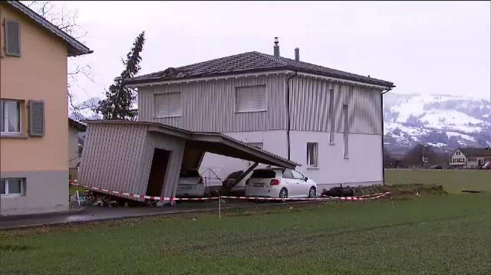 La tempesta Uwe causa disagi a nord delle Alpi
