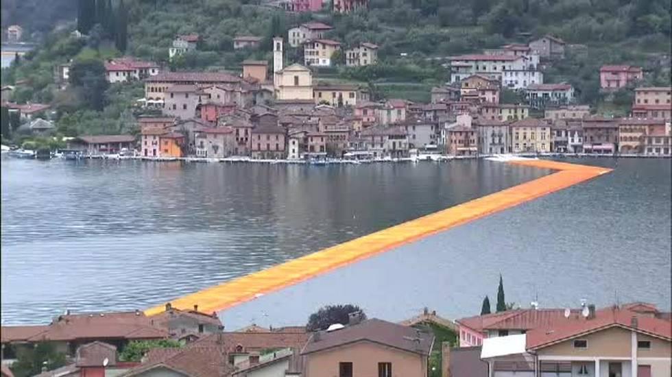 La passerella galleggiante di Christo