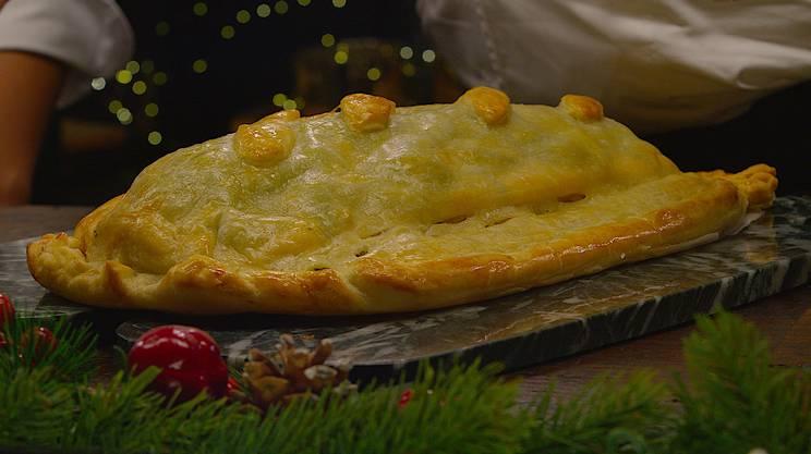 Koubliak di salmone in crosta
