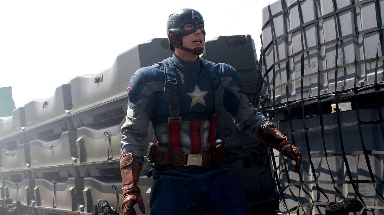 Chris Evans nei panni del protagonista del film (© 2014 Marvel Studios)