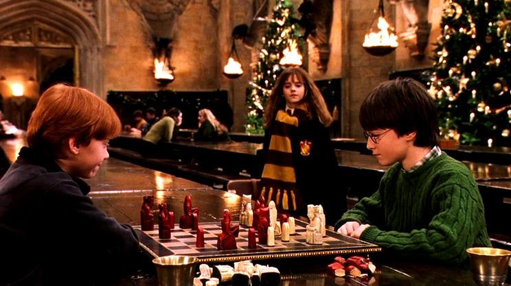 Daniel Radcliffe, Emma Watson e Rupert Grint in una scena del film