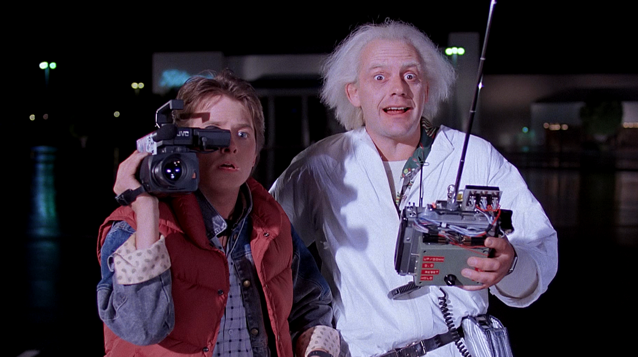 Michael J. Fox e Christopher Lloyd in una scena del film (© 1985 Universal Pictures)