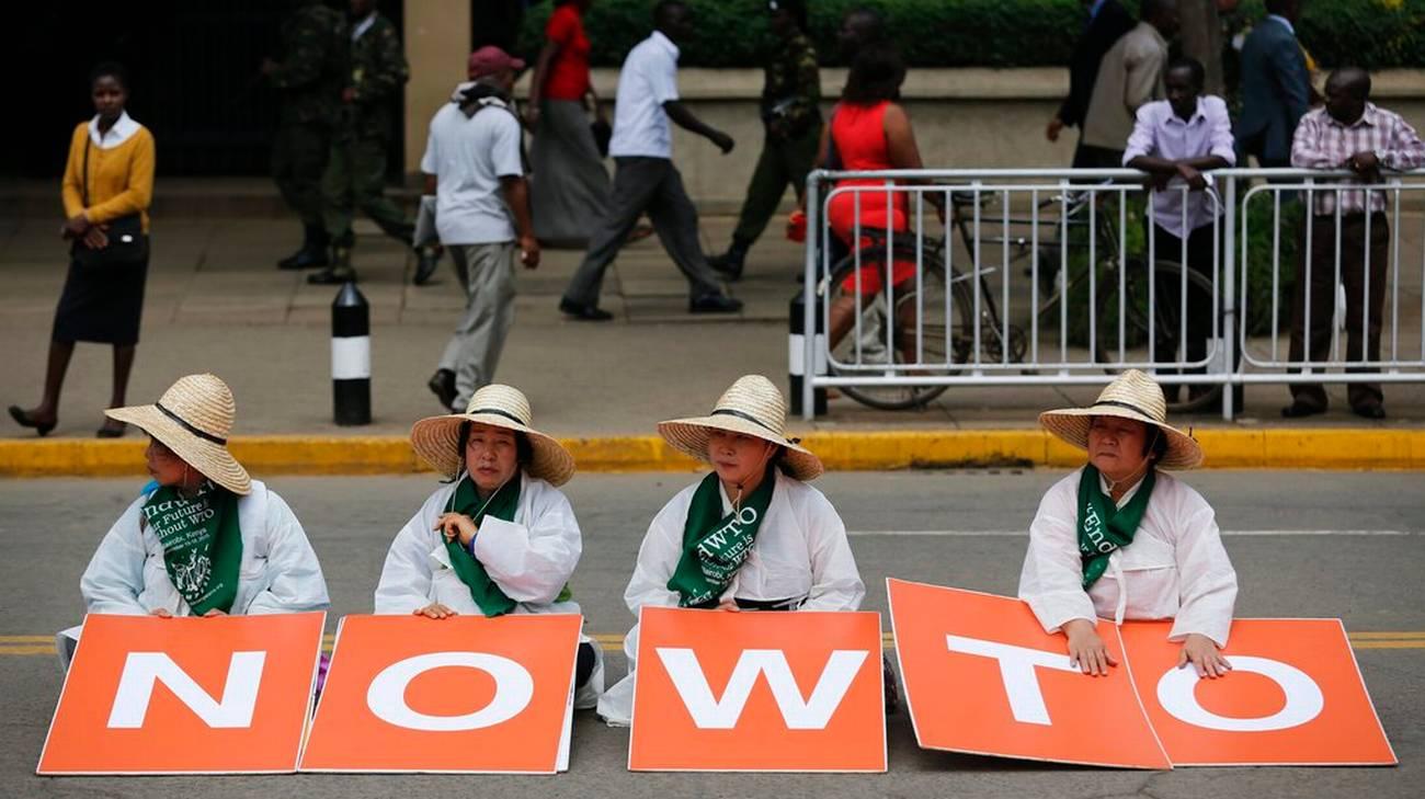 A Nairobi non sono mancate le proteste contro il WTO